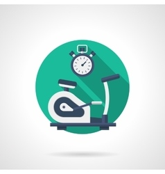 Exercise bike detailed flat color icon vector