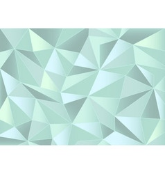 Abstract mint triangles 3d background vector