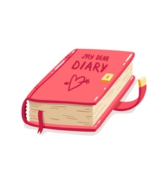 My dear diary vector