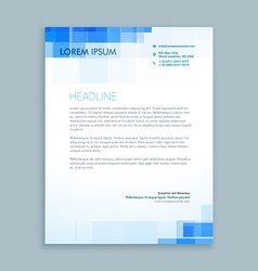 Abstract creative letterhead design vector