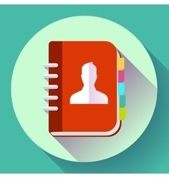 Adress phone book icon notebook icon flat design vector