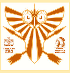 american indian logos vector image
