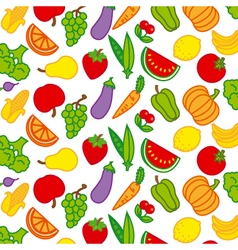 Background fruits and vegetables vector