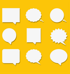 blank empty white speech bubbles with shadows in vector image