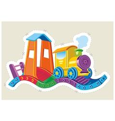 Childrens toy steam locomotive vector