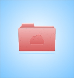 Cloud computing folder concept vector image vector image