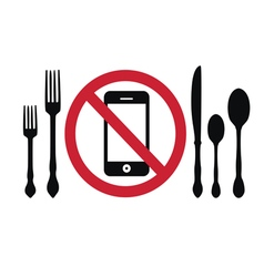 Do not use gadgets during meal vector