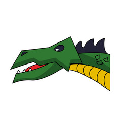 Dragon head game item vector