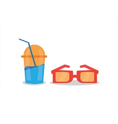 drink and glasses vector image