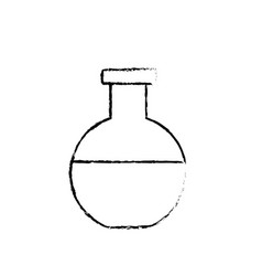 Figure erlenmeyer flask to lab chemical design vector