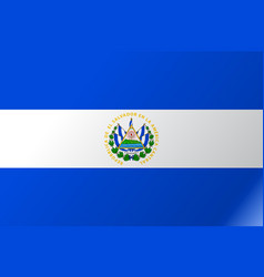 Flag el salvador flat icon vector