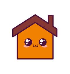 Kawaii house icon image vector