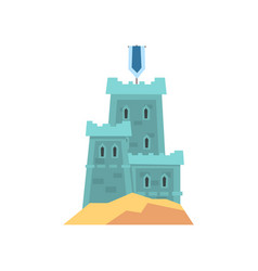 little medieval fortress in blue color old royal vector image vector image