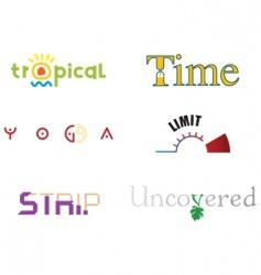 Logo themes vector