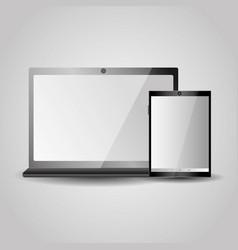 modern laptop tablet gadgets technology vector image