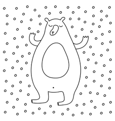 Outline cartoon winter vector