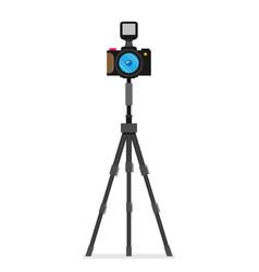 Photo camera modern minimal flat design style vector