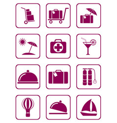 Set of icons for travel services vector