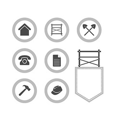 Set of Scaffolding round icons for web site vector image vector image