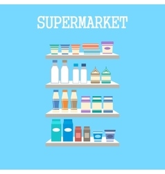 Shelfs with products vector image vector image
