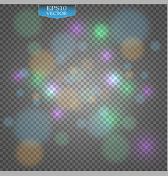 Stock bokeh photo effect christmas light blurred vector