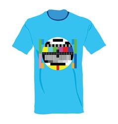 Tv test on shirt vector