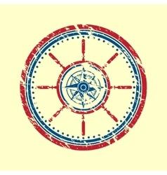 Wind rose symbol grunge vector