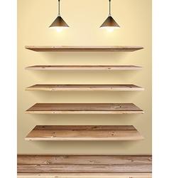 wood shelf vector image vector image