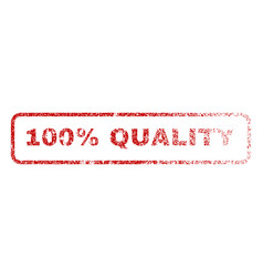 100 percent quality rubber stamp vector