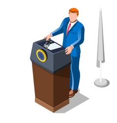 Election infographic lecture theatre isometric vector