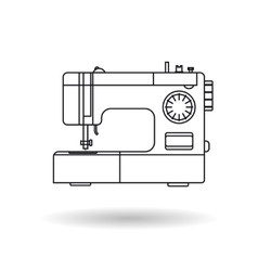 Line icon - sewing machine vector