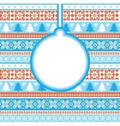 Christmas card with traditional ornament vector