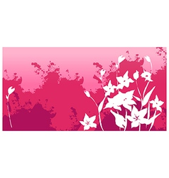 Flora background vector