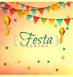 festa junina event festival design vector image