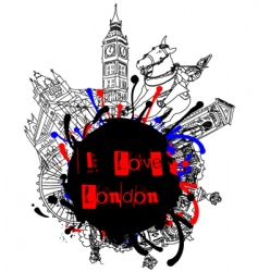 london frame vector image