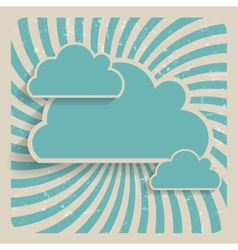 Abstract Cloud Background vector image
