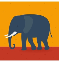 Elephant walking in the field vector
