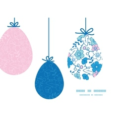 Blue and pink kimono blossoms hanging vector