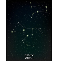 Gemini and orion constellation vector
