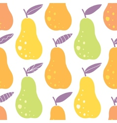 Yummy pears seamless pattern background vector
