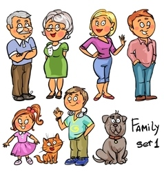 Family - set 1 vector