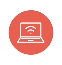Internet wifi thin line icon vector