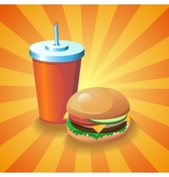 Cola and burger vector