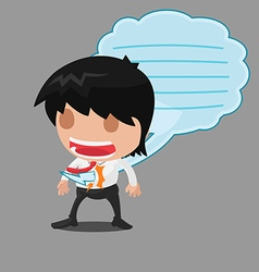 Business man message stab talk vector