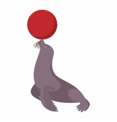 Circus sea lion cartoon vector image