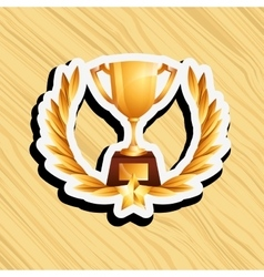 Gold award design vector