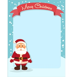 Merry christmas santa banner vector