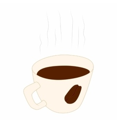 Coffee cup icon cartoon style vector