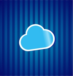 Cloud computing sticker concept vector