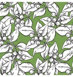 Seamless hand draw pattern with ink vector
